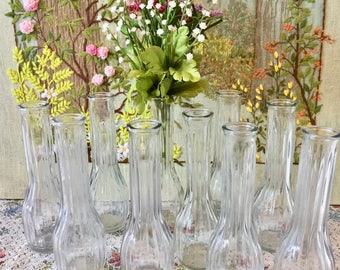 10 Vases Wedding Vases Decorative Vases Glass Vases for Centerpiece Wedding Centerpiece Vases Clear Glass Vases Vintage Bud Vase Bulk Vases
