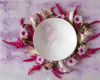White ceramic Bowl, Salad Bowl, Ceramic Serving Bowl, Handmade Bowl, Pottery Bowl, Modern Serving Bowl, Gift For Her