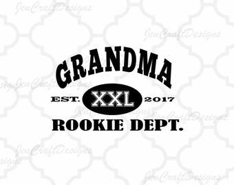 Grandma Rookie Dept SVG, Fathers Day SVG, Est. Shirt, Dad SVG Gift, Svg, Dxf, Studio3, Eps printable Png Vector Art Cricut Files, Silhouette