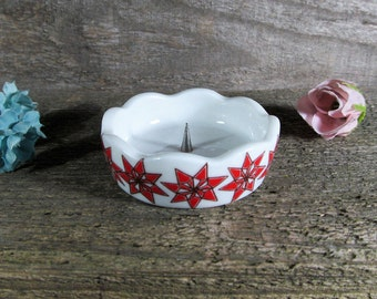 Funny Design, Retro Candle Holder with Steel Point, W. Germany made Candleholder, Vintage Home and Farmhouse Decor