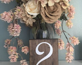 Wedding Table Numbers Double Sided Single Sided Wood Table Numbers Wedding Decor / Country Wedding Signs Rustic Decor Table Centerpiece
