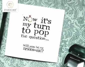 Bridesmaid card, Maid of Honor Card,  Bridesmaid Funny, Will you Card, Matron of Honour, Chief Bridesmaid, Maid of Honour, Matron, CB20