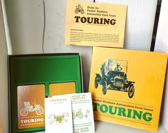 Vintage Touring Automobile Card Game 1965 Parker Brothers Complete