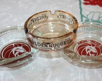 Cool Vintage Las Vegas Casino Ashtrays, Hold-Alls, 3-Piece Set
