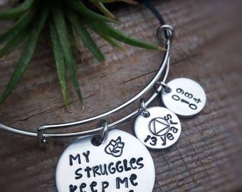 Sobriety Bracelet - Sobriety Anniversary - Inspirational Jewelry - Sobriety Symbol Jewelry - Sobriety Gift - Motivational Gift