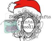 Christmas Anxiety Buddy Printable Clip Art
