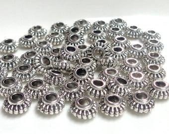 50 gears - 6mm wheel - Tibetan silver interlayer - 2mm hole