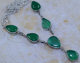 "Chrysoprase 19 3/4"" Princess Style Necklace"