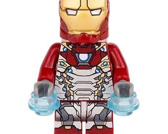 IRON MAN MK47 (Spider-Man Homecoming) Custom Minifigure 100% Lego Compatible! Marvel Comics Character