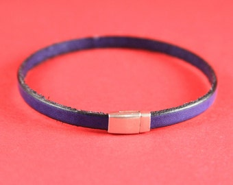 5B/6 MADE in EUROPE zamak tiny magnetic clasp, 5mm flat cord clasp, flat cord magnetic clasp (TM5x2FS) Qty1