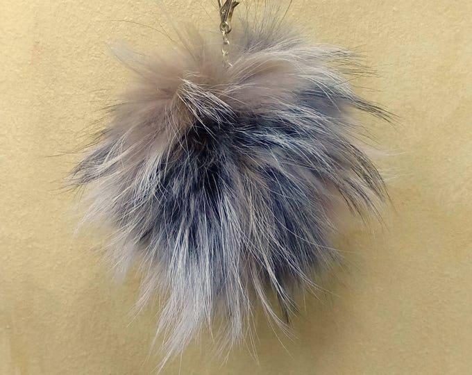 Fox Fur Pom Pom, Bag Pom Pom,Fur keychain F618