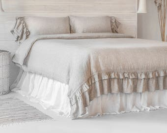 Linen Sheets Set 4pc Stone Washed Super Soft Luxury Seamless