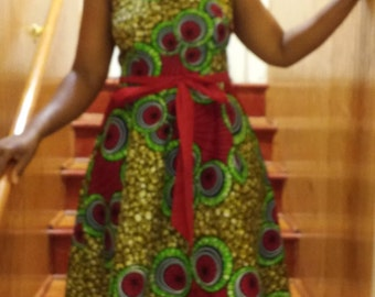 FREE SHIPPING Africa Print  Dress, Africa Party Dress, Ankara Dress,Wax Print Dress,Summer Dress,ankara dress,Print summer Dress