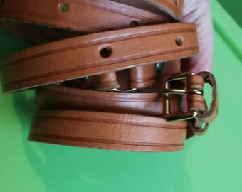 Handmade Genuine Leather, Brown Leather Belt,