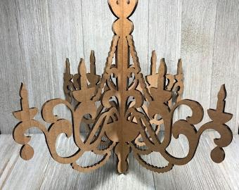 Cardboard chandelier etsy laser cut cardboard chandelier 2 10 aloadofball Choice Image