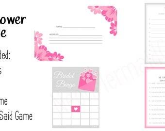 Bridal Shower Bundle Printables