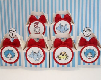Dr Seuss Favor Boxes Party Favors