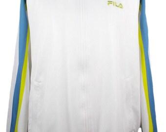 Fila Tennis Masters Series Tracksuit Top Track Jacket Vintage Deadstock New White Large (UK L)