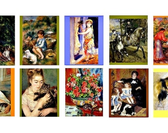 Auguste Renoir Stickers,Art Stickers,Impressionist Decals,MacBook Decal,Laptop Stickers,Vertical Planner Sticker,Laptop Decal