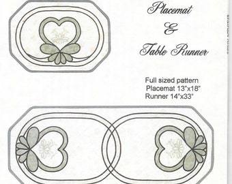Lovenest Designs -  Diana Moore Designs - Viking Machine Embroidery Designs  - Quilted Placemat and Table Runner - Circa 2001 - NIP/Unopened