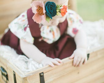 Felt Flower Headband/Spring Headband/Flower Headband/ Single Bloom Headband/ Baby Headband/ Flower Clip/ Felt Flower Crown