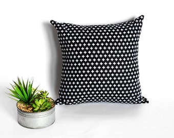 Black and White plus cover - graphic pillow - cross pillow - sweedish pillow - throw - uniqe - b&W - cushion cover