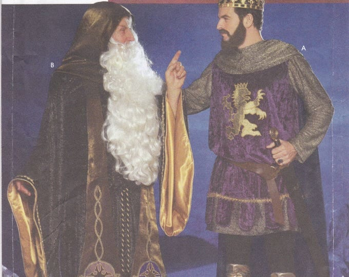FREE US SHIP Simplicity 9753 Sewing Pattern Renaissance Medieval Costume Men Wizard KIng Size Chest 42 44 46 48 Cosplay Factory Folded