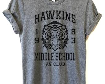 Hawkins Middle School AV Club Shirt, Hawkins Middle School T-Shirt, Stranger Things Shirt, hawkins middle school t-shirt, Hawkins Tigers