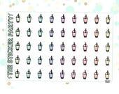 Mini Boba/Bubble Tea Planner Stickers