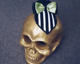 Beetlejuice Stripe Horror Pinup Halloween Cosplay Fascinator From The Glamour Ghoul Gang [ VOIDEaD ]