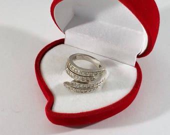 17.2 mm Ring Silver 925 crystal Winding Optics SR788