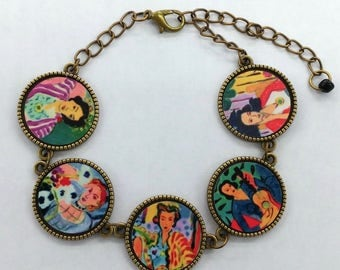 Matisse, Colorful Women Collection, Designed by Artist, Patti Siehien, Matching Earrings Available, Mixed Media Jewelry, Free Shipping,