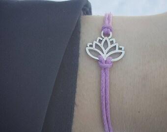 Lotus Bracelet, Floral Jewelry, Lotus Party Favor, Lotus Jewelry, Yoga Jewelry, Lotus Friendship Bracelet, Lotus Wish Bracelet, Lotus Flower