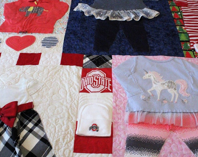 First year memory quilt, Handmade quilt from baby clothes,1st year memory quilt, Keepsake quilt,Baby quilt,Throw quilt,Twin,Full,Queen,King