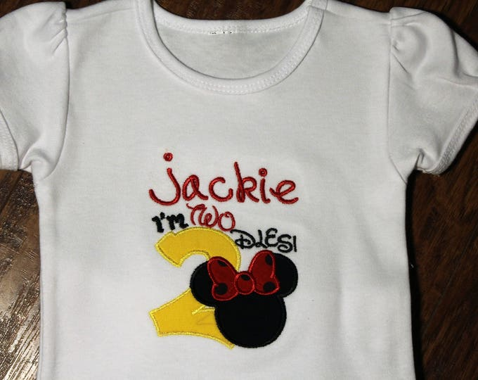 Sample sale, I'm Twodles birthday shirt, Minnie birthday shirt, Minnie Mouse inspired birthday shirt,Disney birthday shirt, second birthday