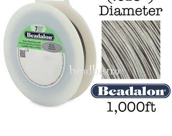 "BRIGHT 1,000ft - (.018"") Beadalon 7 Strand Stainless Steel FlexWire Gem & Bead Stringing Wire"