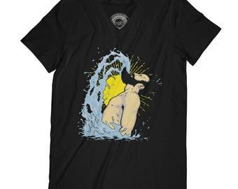 Beard t-shirt mustache t-shirt male t-shirt funny t shirt swiming shirt   hipster shirt fathers day shirt meme t-shirt AP79