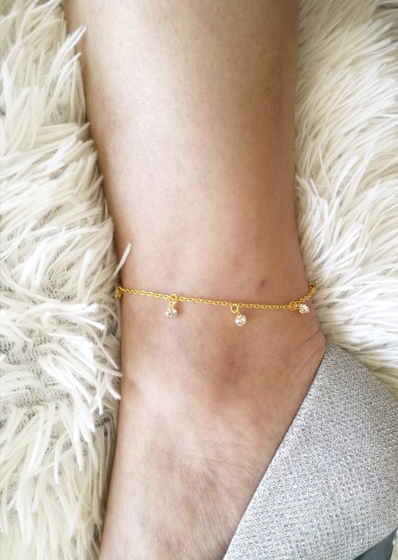 this like gold item il dainty anklet en crystal hk listing