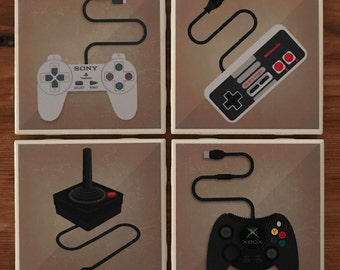 Retro Gaming Console Coasters