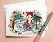 Friendship Card - Anne of Green Gables - greeting card - Blank inside