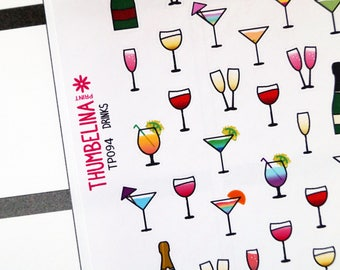 Drinks Planner Stickers (TP094)