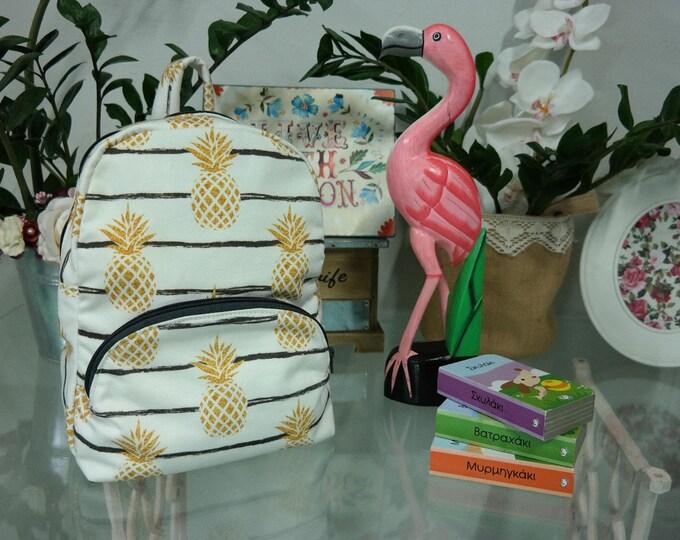 SALES!Baby School Gold Pineapples Backpack
