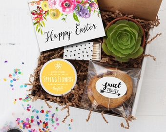Happy Easter Gift Box - Thinking of You Gift | Easter Gift | Mom Gift | Friend Gift | Spring Gift | Gift For Her | Hostess Gift