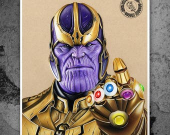 Thanos: - Illustrated Gicleé Print