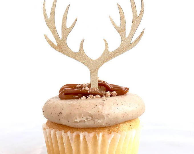 Antlers Cupcake Topper