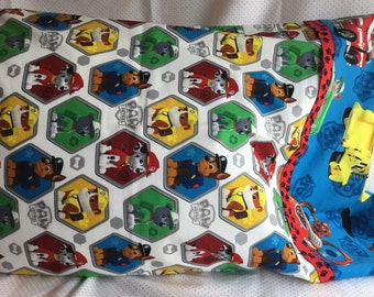 PAW PATROL PILLOWCASE Fits Standard Size Bed Pillow