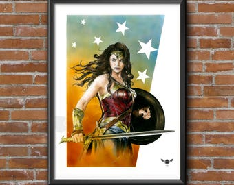 Limited Edition Print – Wonder Woman