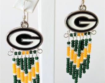 Green Bay Packers Festival Fringe Earrings
