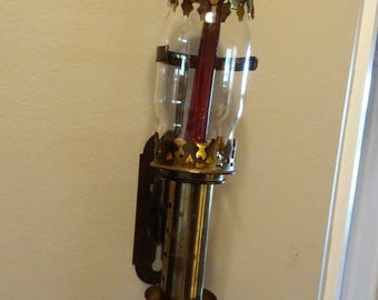 Vintage Brass Candle Sconce, Hallway Candle Sconce from 1920's Style, Reproduction 1940's