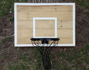 pallet wood basketball hoop with painted hoop lines wall mounted pallet wood basketball backboard and